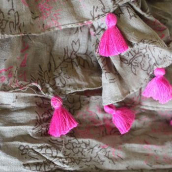 rose tassel scarf