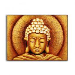 buddha golden sun oil painting