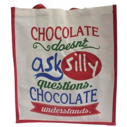 chocolate doesnt ask shopping bag