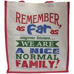 A nice normal family shopping bag