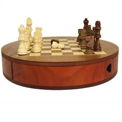 round chess set