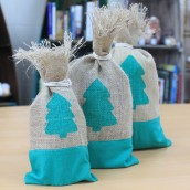 christmas tree jute pouches