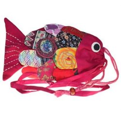 fish shape bag pink