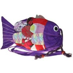 purple fish shape bag