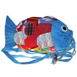 blue fish shape bag
