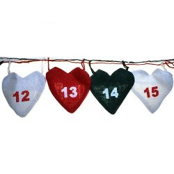 christmas heart advent calendar