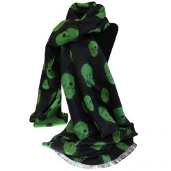 black and green skull scarf