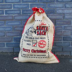 this child has been nice santa sack