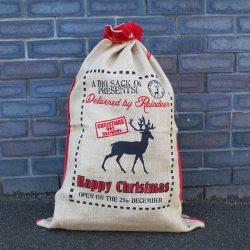 delivered by Reindeers santa sack