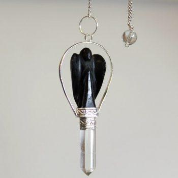 black agate pendulum