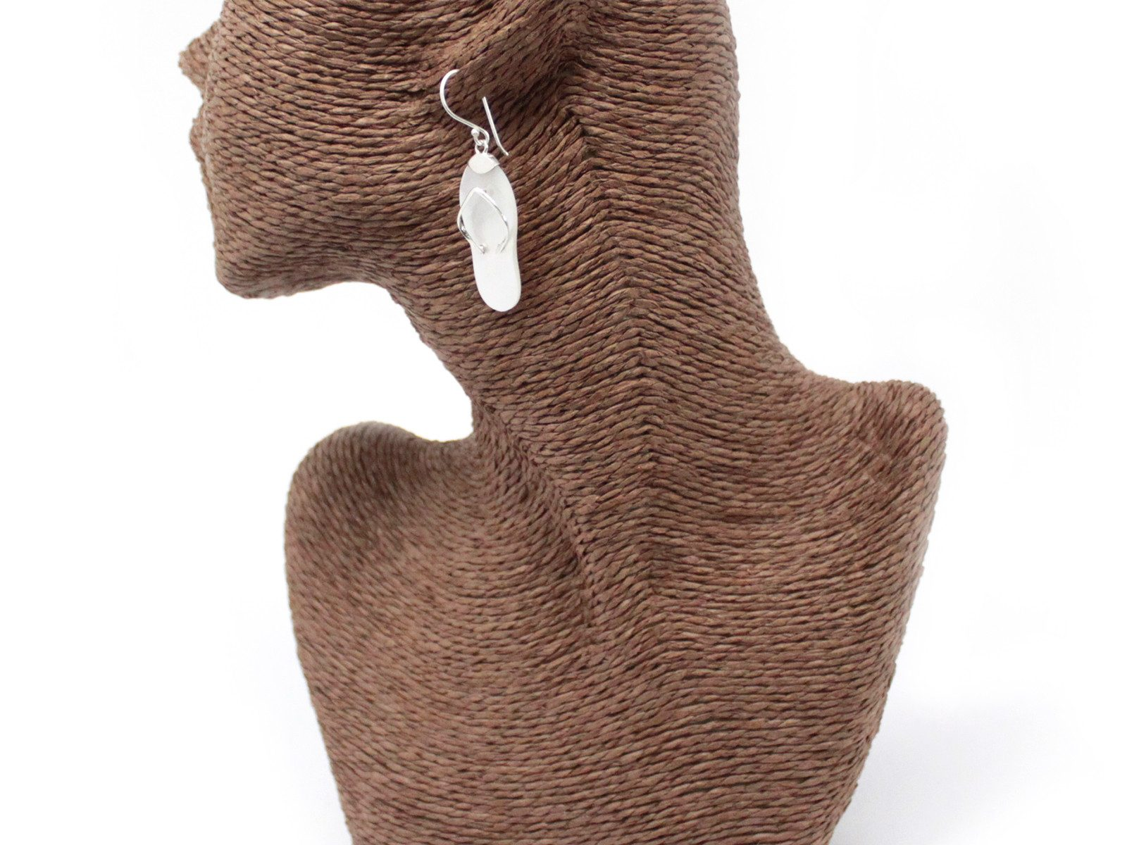 flip flops silver earings