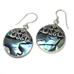 classic disc abalone earrings