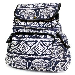 blue elephants traveler backpack