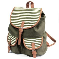 Olive stripe travelers backpack