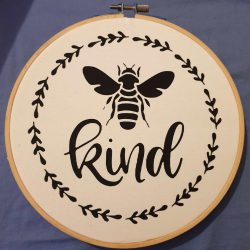 be kind home decor wooden hoop